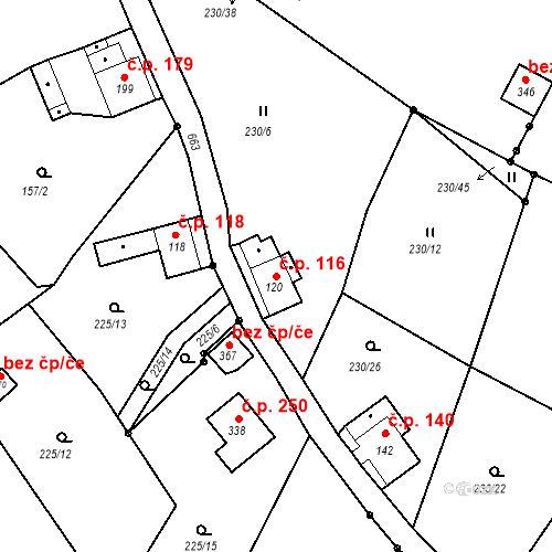 Katastrální mapa Stavební objekt Liberec XXXII-Radčice 116, Liberec