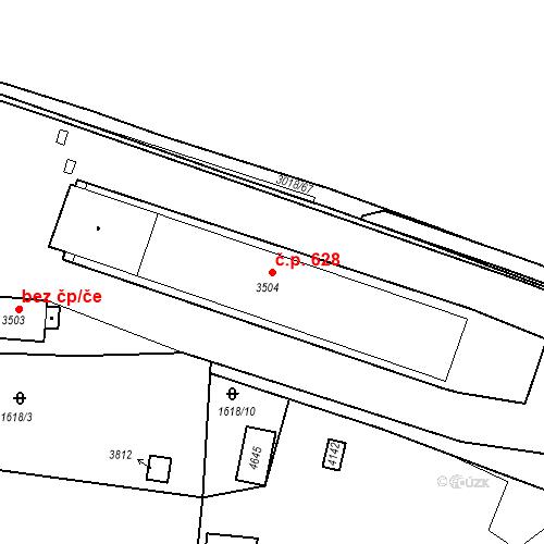 Katastrální mapa Stavební objekt Kolín IV 628, Kolín