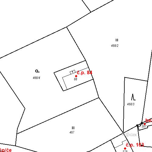 Katastrální mapa Stavební objekt Liberec XXXII-Radčice 84, Liberec
