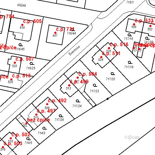 Katastrální mapa Stavební objekt Velký Osek 504, Velký Osek