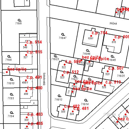 Katastrální mapa Stavební objekt Velký Osek 509, Velký Osek