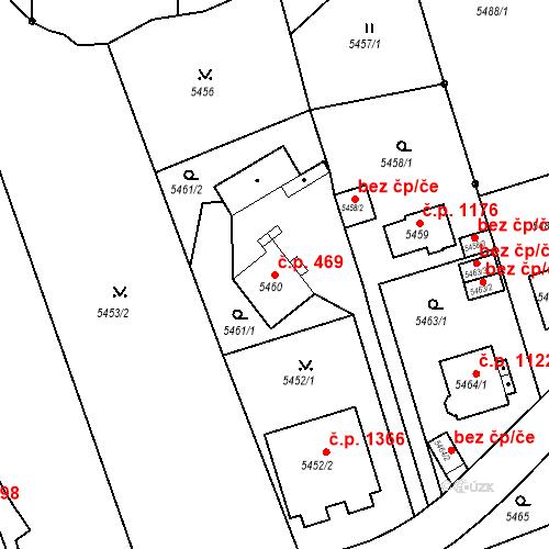 Katastrální mapa Stavební objekt Liberec I-Staré Město 469, Liberec