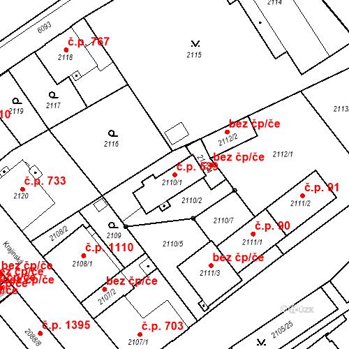 Katastrální mapa Stavební objekt Liberec I-Staré Město 539, Liberec