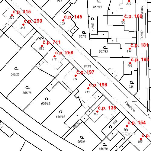 Katastrální mapa Stavební objekt Velký Osek 197, Velký Osek