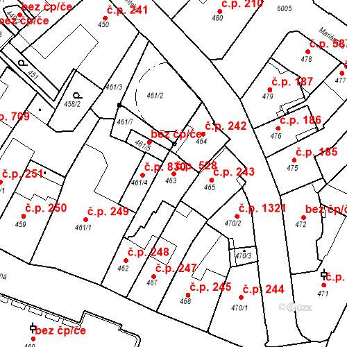 Katastrální mapa Stavební objekt Liberec I-Staré Město 528, Liberec