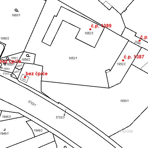 Katastrální mapa Stavební objekt Liberec I-Staré Město 477, Liberec