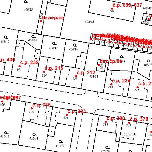 Katastrální mapa Stavební objekt Velký Osek 212, Velký Osek