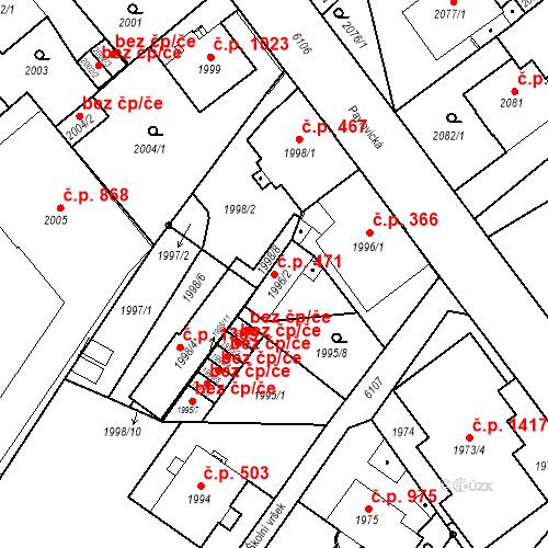Katastrální mapa Stavební objekt Liberec I-Staré Město 471, Liberec