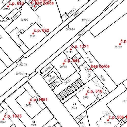 Katastrální mapa Stavební objekt Liberec I-Staré Město 541, Liberec