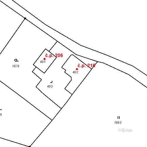 Katastrální mapa Stavební objekt Liberec XXXII-Radčice 72, Liberec