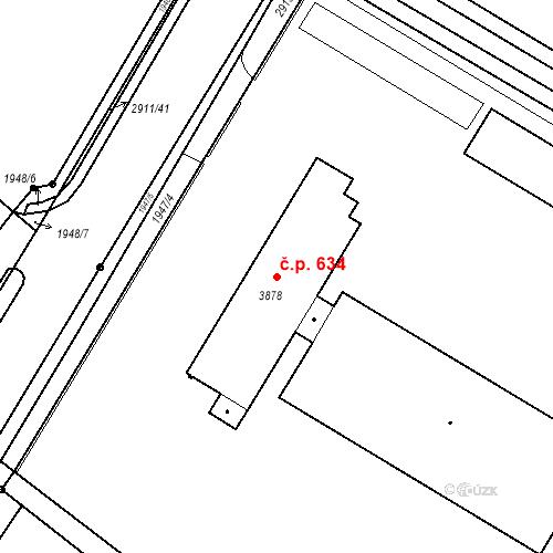 Katastrální mapa Stavební objekt Kolín IV 634, Kolín