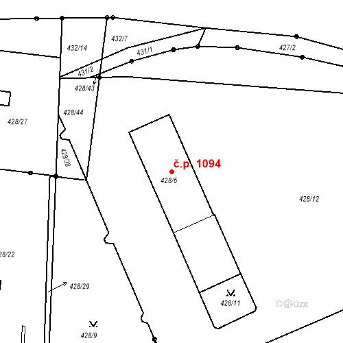 Katastrální mapa Stavební objekt Liberec VI-Rochlice 1094, Liberec