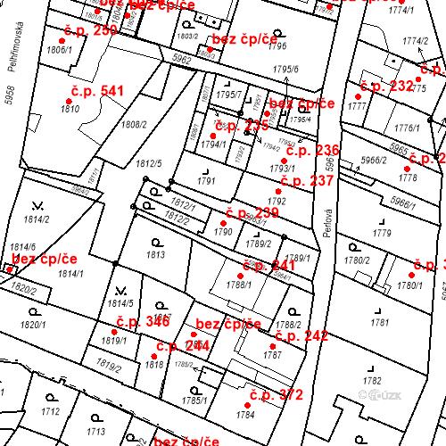 Katastrální mapa Stavební objekt Liberec II-Nové Město 239, Liberec