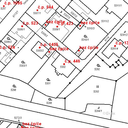 Katastrální mapa Stavební objekt Liberec I-Staré Město 446, Liberec