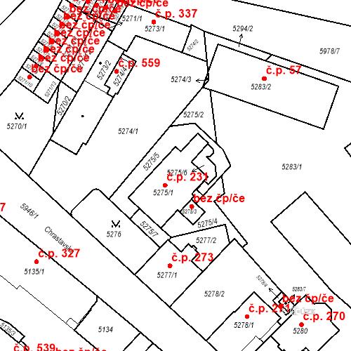 Katastrální mapa Stavební objekt Liberec II-Nové Město 231, Liberec