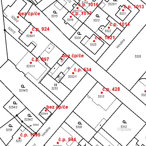 Katastrální mapa Stavební objekt Liberec I-Staré Město 534, Liberec