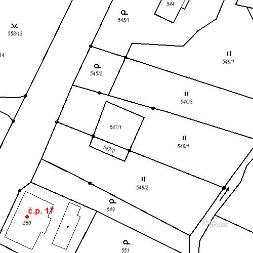 Katastrální mapa Stavební objekt Liberec XXIII-Doubí 19, Liberec