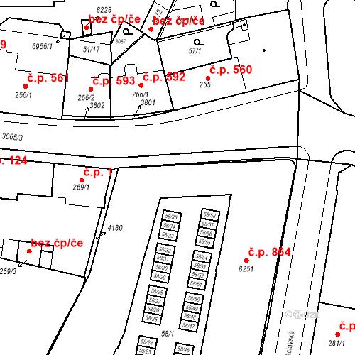 Katastrální mapa Stavební objekt Kolín III 7, Kolín