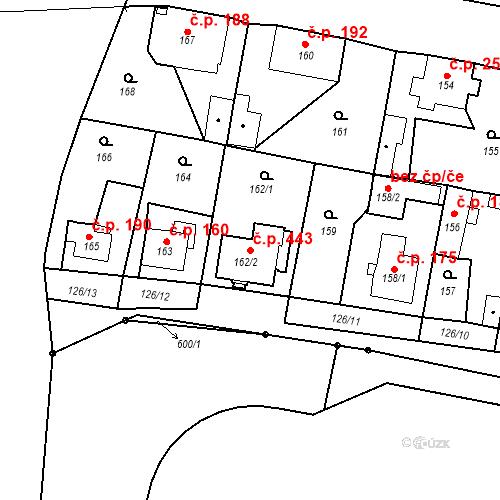 Katastrální mapa Stavební objekt Liberec XXIII-Doubí 443, Liberec