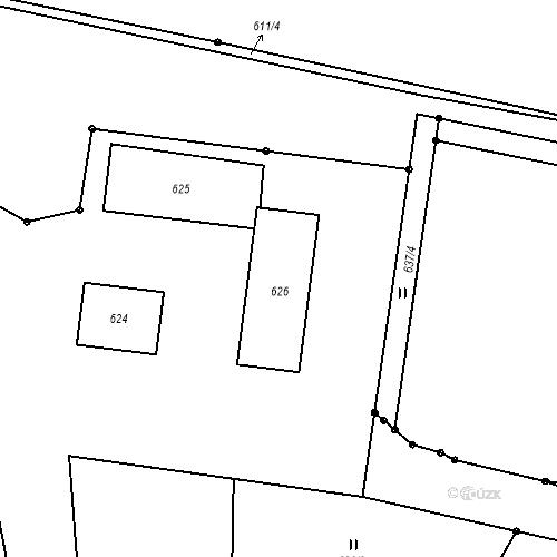 Katastrální mapa Stavební objekt Liberec XXIII-Doubí 486, Liberec