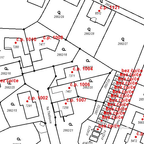Katastrální mapa Stavební objekt Kolín II 1004, Kolín