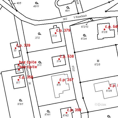 Katastrální mapa Stavební objekt Stráž nad Nisou 538, Stráž nad Nisou