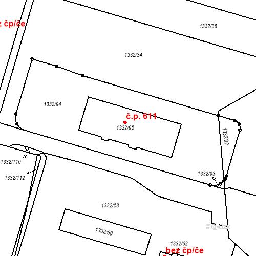 Katastrální mapa Stavební objekt Liberec XI-Růžodol I 611, Liberec