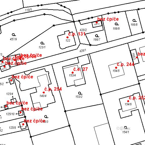 Katastrální mapa Stavební objekt Liberec IX-Janův Důl 27, Liberec