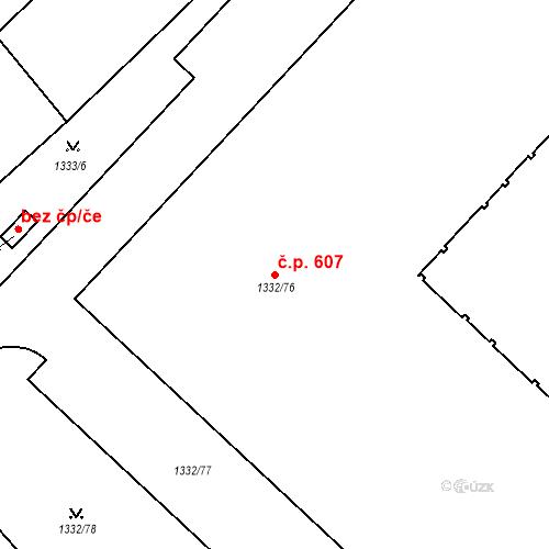 Katastrální mapa Stavební objekt Liberec XI-Růžodol I 607, Liberec