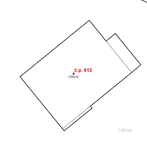 Katastrální mapa Stavební objekt Liberec XI-Růžodol I 612, Liberec