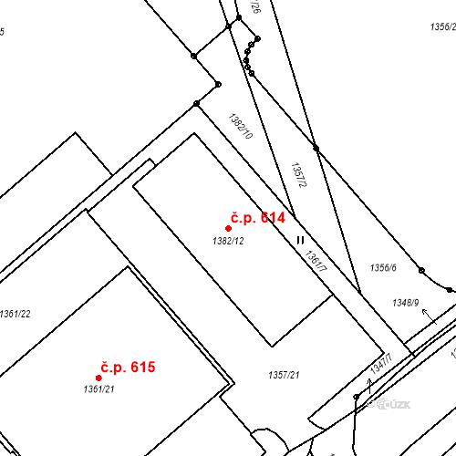 Katastrální mapa Stavební objekt Liberec XI-Růžodol I 614, Liberec