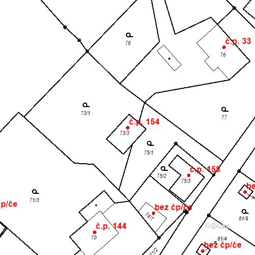 Katastrální mapa Stavební objekt Liberec XXII-Horní Suchá 154, Liberec