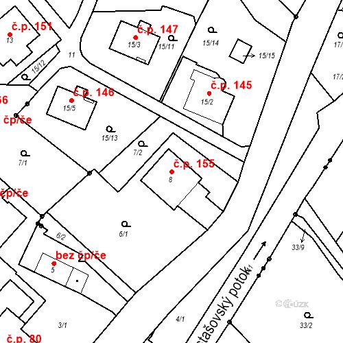 Katastrální mapa Stavební objekt Liberec XXII-Horní Suchá 155, Liberec