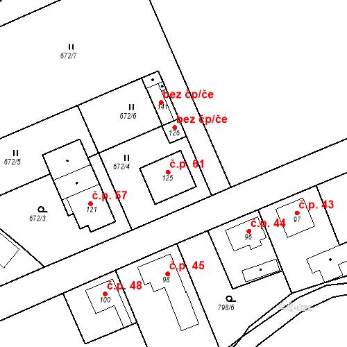 Katastrální mapa Stavební objekt Dneboh 61, Mnichovo Hradiště
