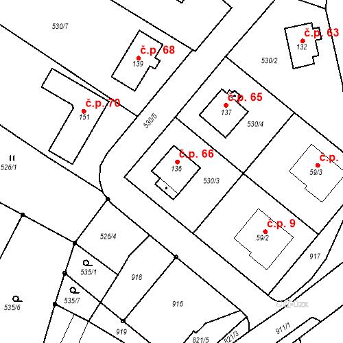 Katastrální mapa Stavební objekt Dneboh 66, Mnichovo Hradiště
