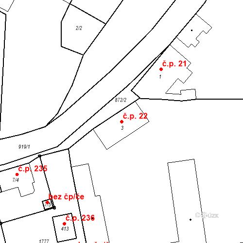 Katastrální mapa Stavební objekt Bobnice 22, Bobnice