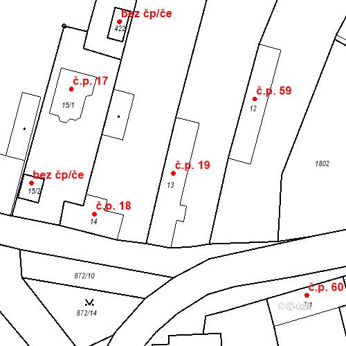 Katastrální mapa Stavební objekt Bobnice 19, Bobnice