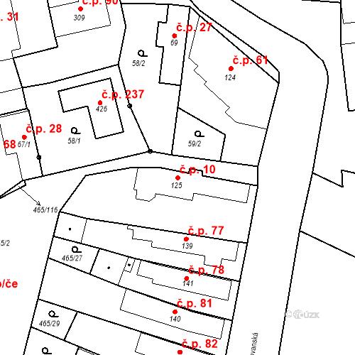 Katastrální mapa Stavební objekt Bobnice 10, Bobnice