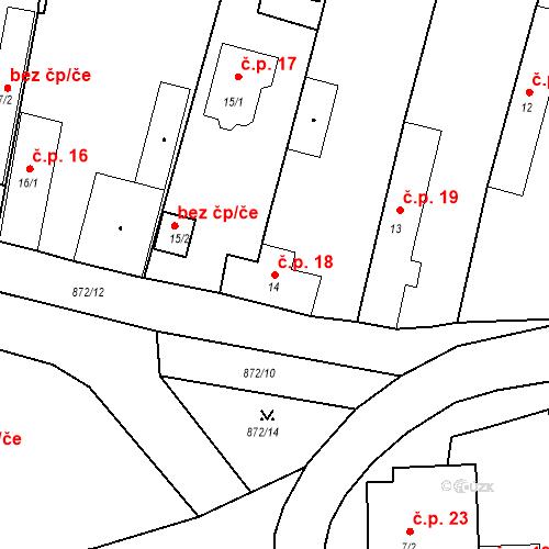 Katastrální mapa Stavební objekt Bobnice 18, Bobnice
