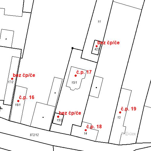 Katastrální mapa Stavební objekt Bobnice 17, Bobnice