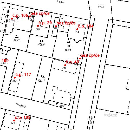 Katastrální mapa Stavební objekt Bobnice 48, Bobnice