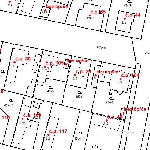 Katastrální mapa Stavební objekt Bobnice 29, Bobnice