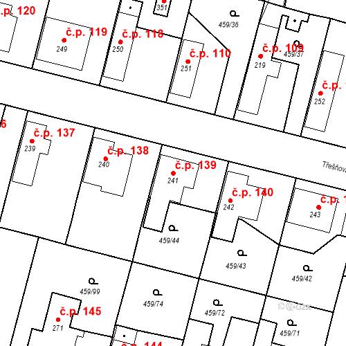 Katastrální mapa Stavební objekt Bobnice 139, Bobnice
