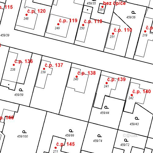 Katastrální mapa Stavební objekt Bobnice 138, Bobnice