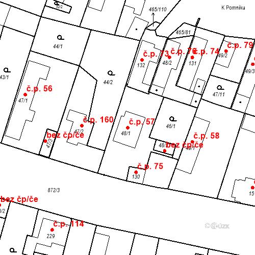 Katastrální mapa Stavební objekt Bobnice 57, Bobnice