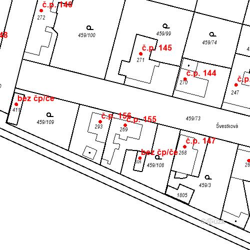 Katastrální mapa Stavební objekt Bobnice 155, Bobnice