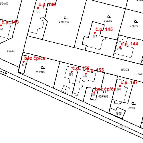 Katastrální mapa Stavební objekt Bobnice 156, Bobnice