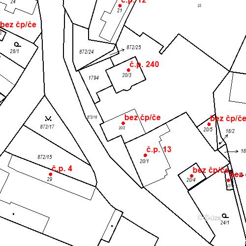 Katastrální mapa Stavební objekt Bobnice 159, Bobnice