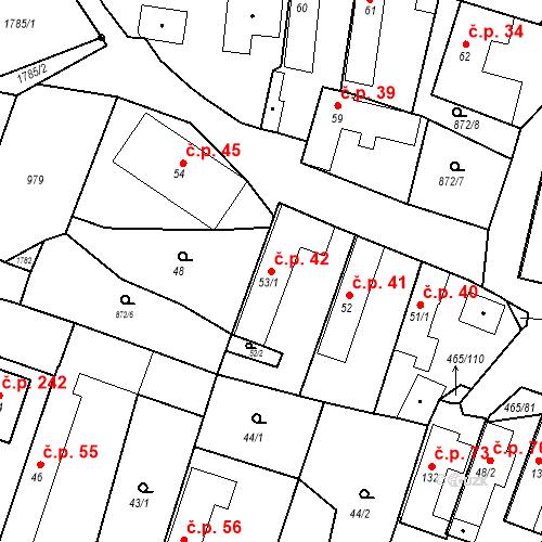 Katastrální mapa Stavební objekt Bobnice 42, Bobnice