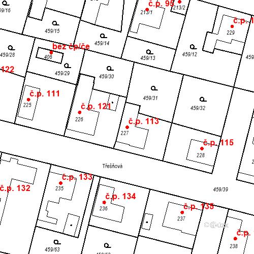 Katastrální mapa Stavební objekt Bobnice 113, Bobnice